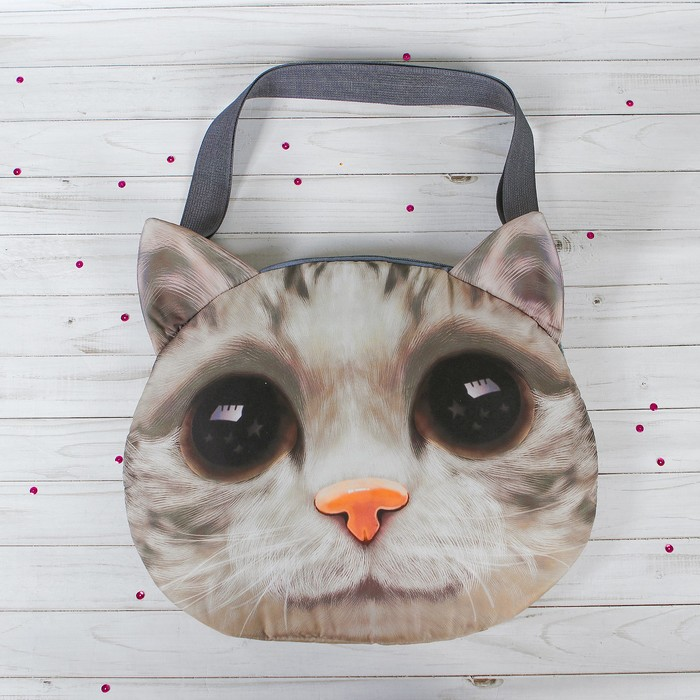 Мягкая сумка «Киса, большие глазки» - фото 1049915