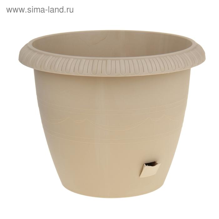 Горшок для цветов 20,5 л Le Jardin, d=40 см, цвет золотой мрамор, на колесах