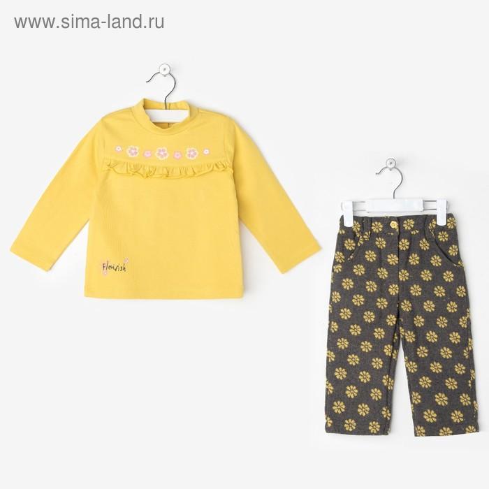 "Комплект для девочки ""Лютик"": кофта, штанишки, рост 98-104 см (24-36 мес.), цвет микс 9199IC1387"
