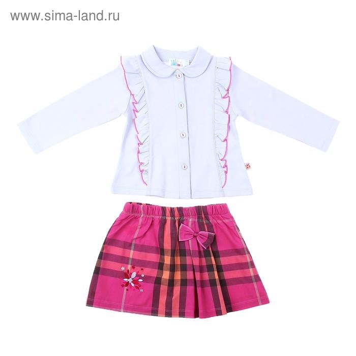 Комплект для девочки: кофта, юбка в клетку, рост 98-104 см (98-104 мес.), цвет микс 9001IE1761