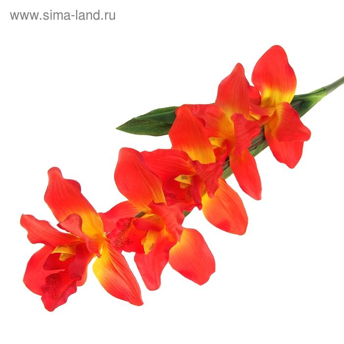 """Цветы искусственные """"Орхидея Каттлея"""" оранжевая"""