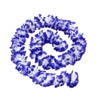 """Гавайская гирлянда """"Цветочки"""", цвет бело-синий"""