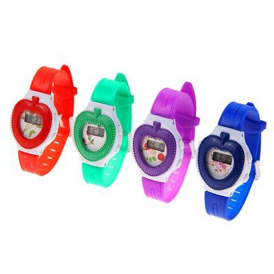 Часы наручные электронные «Ягодка», детские, с силиконовым ремешком, микс