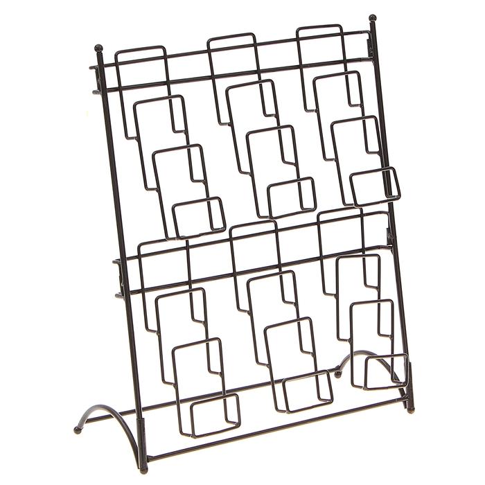 Стойка под кошельки, книги, открытки 39*15*47, 2 ряда, цвет чёрный