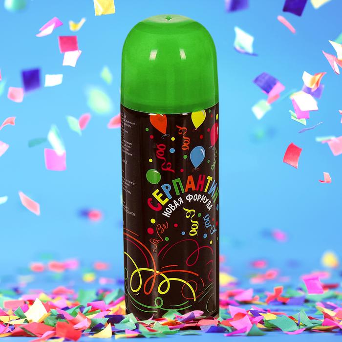 Спрей серпантин, 250 мл, цвет зелёный