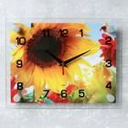 """Часы настенные, серия: Цветы, """"Подсолнухи"""", 20х26  см, микс"""