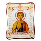 """The icon is in the car, """"the Holy healer Panteleimon"""" with adhesive base"""
