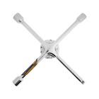 Ключ балонный TUNDRA premium, крестообразный, сатин, D16х350 мм, 17х19х21х1/2 мм