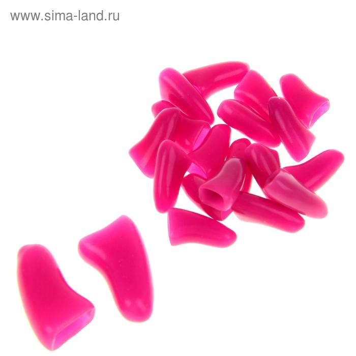 Накладные когти для собак, набор 20 шт, размер L, темно-розовые