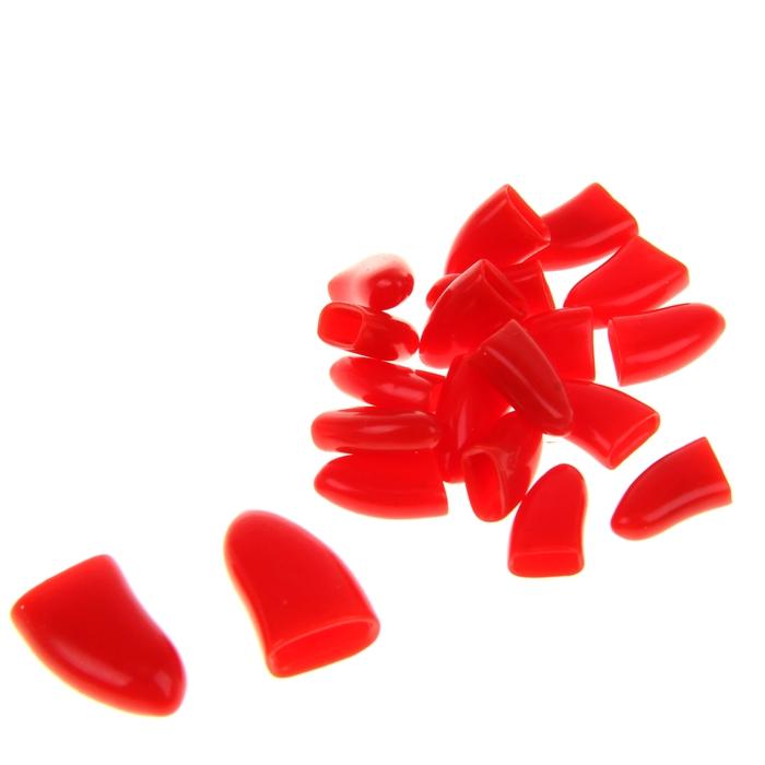 Накладные когти для собак, набор 20 шт, размер XL, красные
