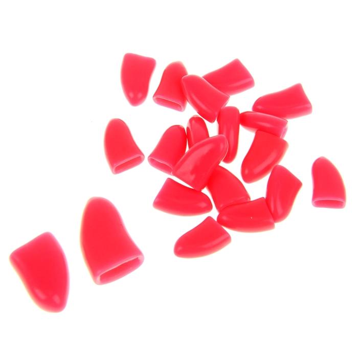 Накладные когти для собак, набор 20 шт, размер XL, светло-розовые
