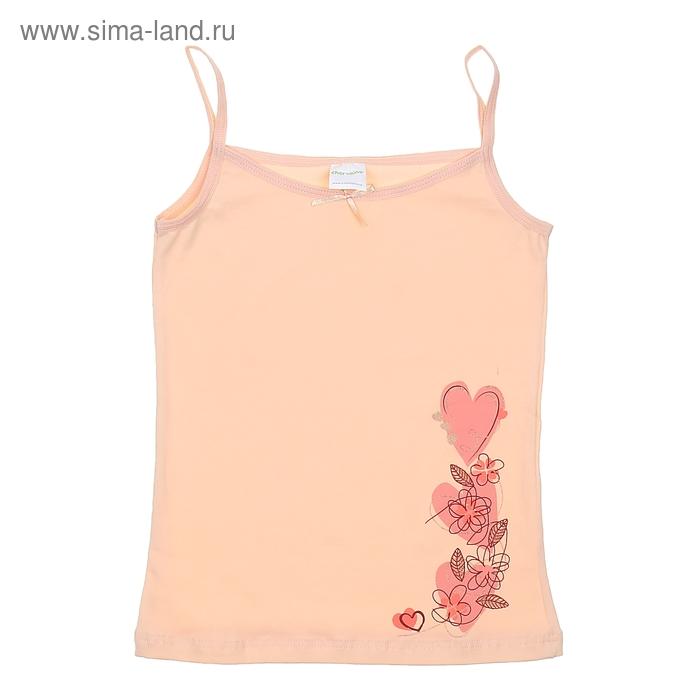 Майка для девочки, рост 140 см (72), цвет светло-персиковый CAJ 2123