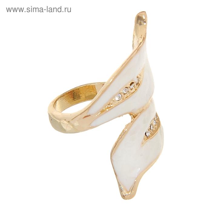 """Кольцо """"Листья"""", цвет молочный в золоте, размер МИКС"""