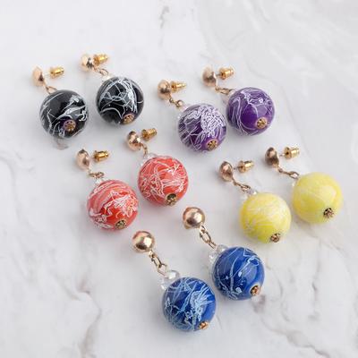 "Earrings plastic ""Beads art"", MIX color"