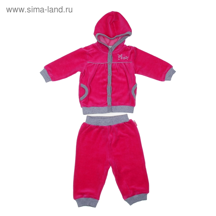 Комплект (толстовка+брюки), рост 62 см (40), цвет фуксия  CWN 9412_М