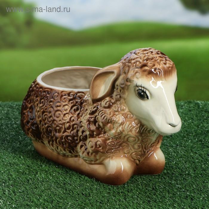 """Фигурное кашпо """"Коричневая овечка"""" 4 л"""