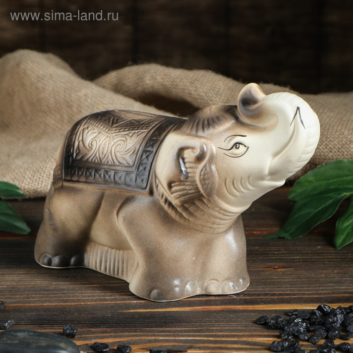"""Копилка """"Слон"""" бело-серая"""