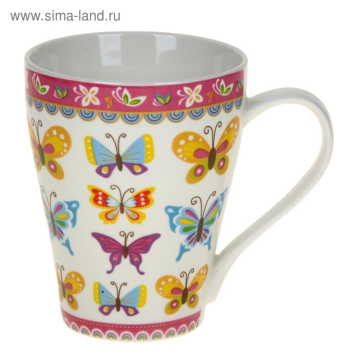 "Кружка 350 мл ""Бабочки"", цвета МИКС"