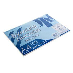 Бумага писчая А4, 100 листов, плотность 50-65 г/м², белизна 92-96%, эконом, в плёнке