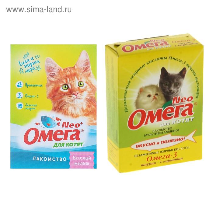 Омега Neo с таурином и L-каринтином для кошек и котят, 60 таб