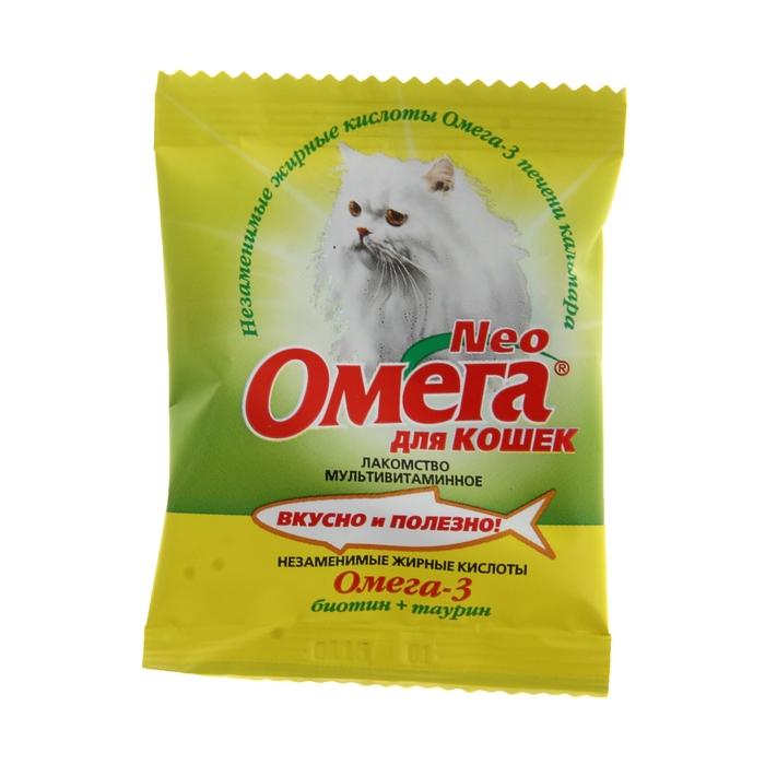 Лакомство Омега Neo для кошек, биотин/таурин, саше 15 табл.
