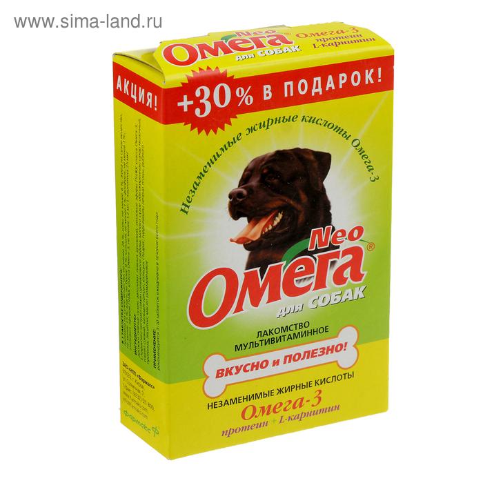 Омега Neo с протеином и L-каринтином для собак, 90 таб