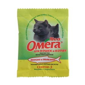 Лакомство Омега Neo для кошек и котят, таурин/L-каринтин, саше 15 табл. Ош