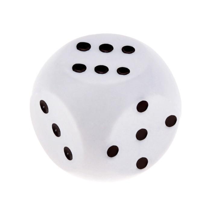 Кубик игральный, белый