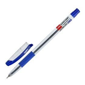 Ручка шариковая Cello Slimo Grip, узел 0.7 мм, резиновый упор, чернила синие, корпус прозрочный