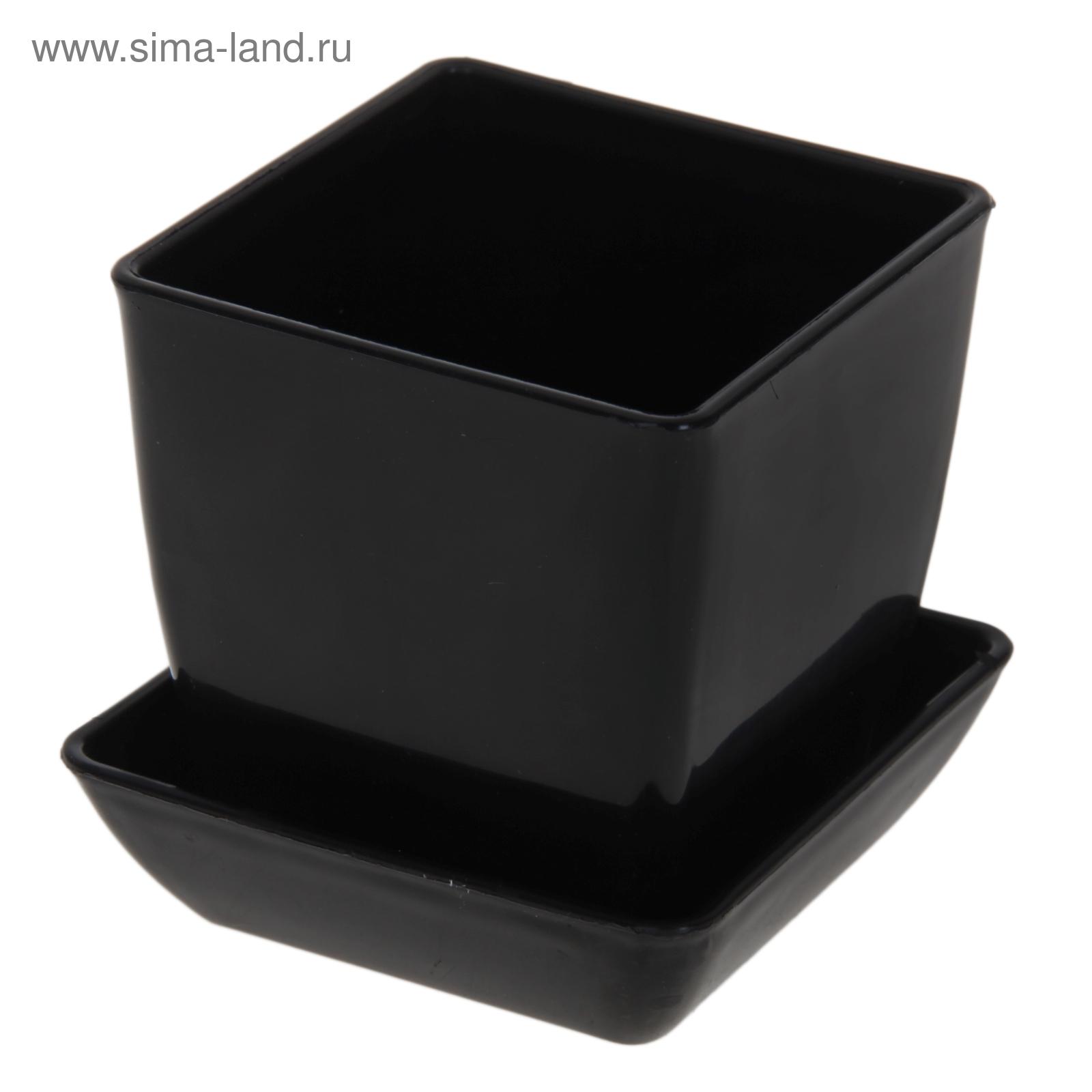 Горшки для цветов черные 53
