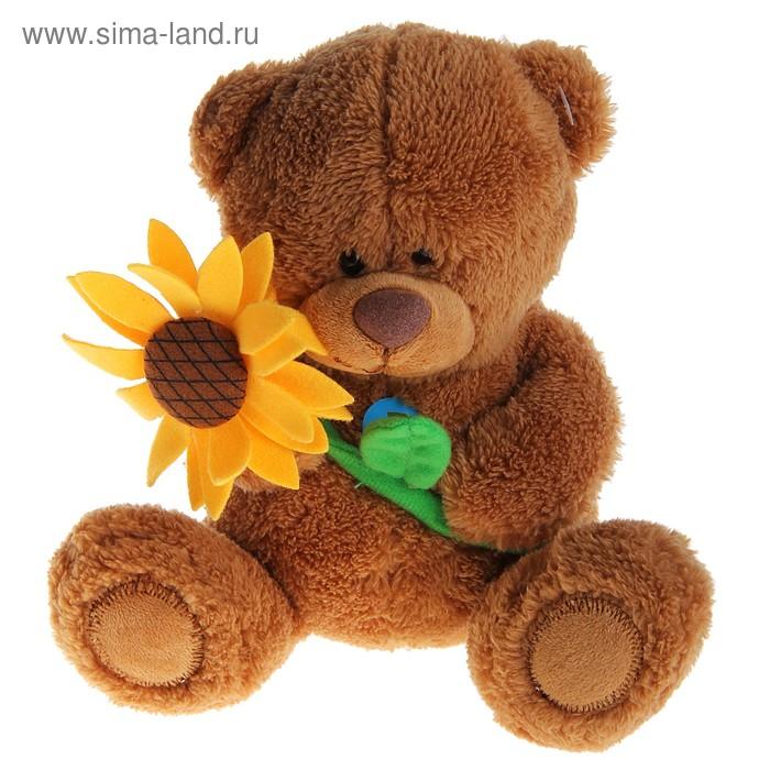 Мягкая игрушка «Медвежонок Сэмми с подсолнухом» музыкальная