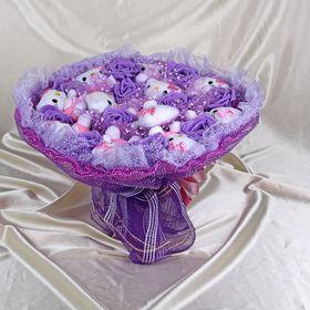 Букет из игрушек 'Леденец' фиолетовый Ош