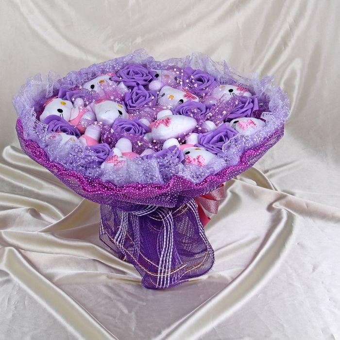 """Букет из игрушек """"Леденец"""" фиолетовый"""