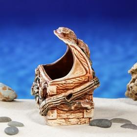 """Декорация для аквариума """"Сундук'', 13 см, микс - фото 7454404"""