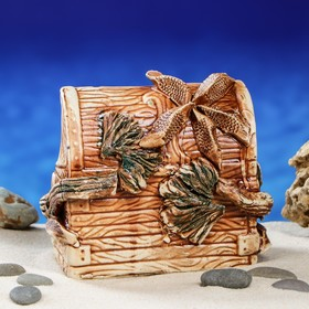 """Декорация для аквариума """"Сундук'', 13 см, микс - фото 7454405"""