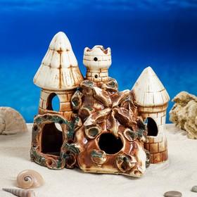 """Декорация для аквариума """"Башни на утесе"""", 12 х 20 х 20 см, микс"""