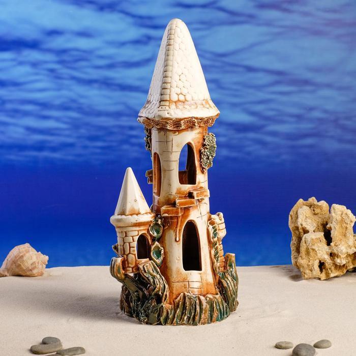 """Декорация для аквариума """"Замок одинарный"""", 15 х 13 х 35 см, микс"""