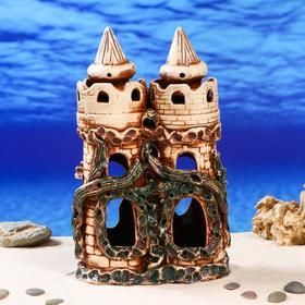 """Декорации для аквариума """"Двойная крепость"""" микс"""