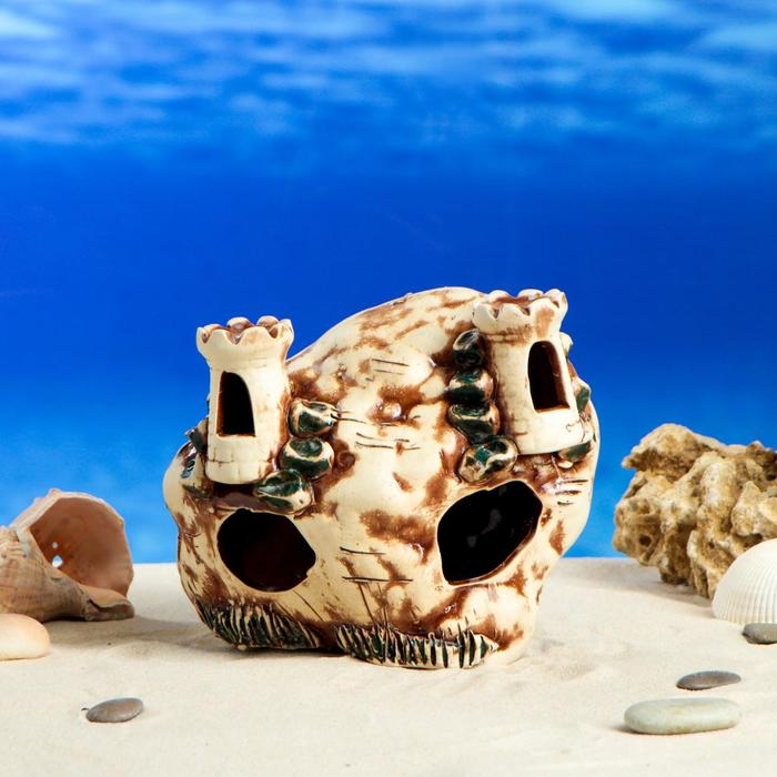 """Декорация для аквариума """"Замок в скале"""", 10 см × 19 см × 16 см"""