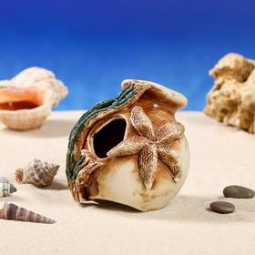 """Декорация для аквариума """"Амфора маленькая'', 10 х 11 х 10 см, микс"""
