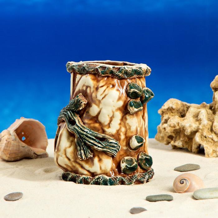 """Декорация для аквариума """"Пень"""", 11 см × 16 см × 11 см, микс"""