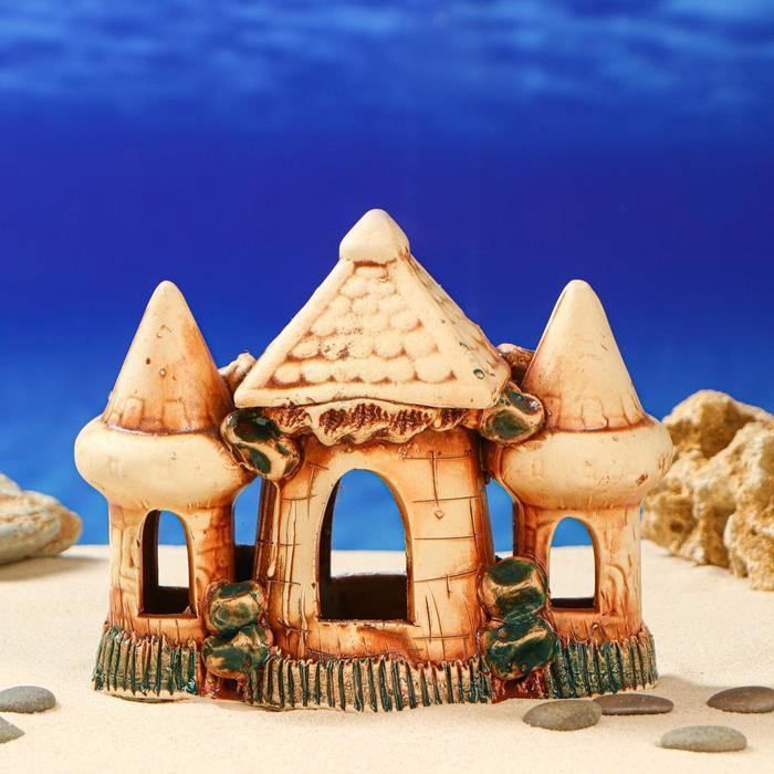 """Декорации для аквариума """"Средние башни с аркой"""" микс"""