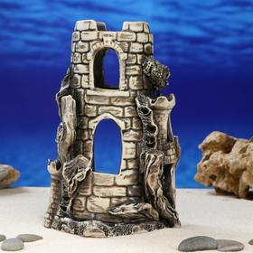 """Декорация для аквариума """"Башня с маленькими башенками'', 12 х 13 х 20 см, микс"""