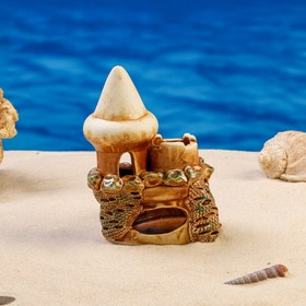 "Декорации для аквариума ""Башенка на скале"" микс"
