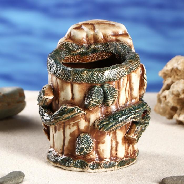 """Декорация для аквариума """"Пень маленький'', 10 х 10 х 12 см, микс"""