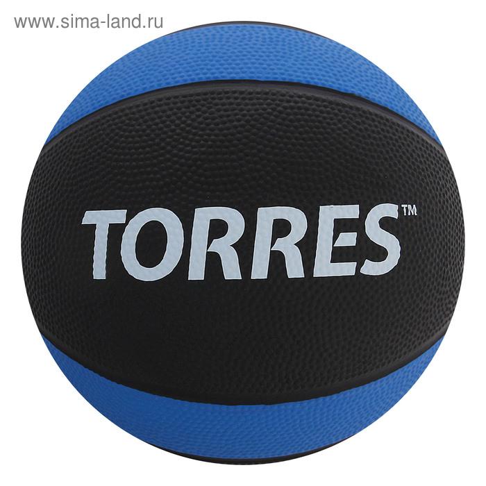 """Медбол """"TORRES 3 кг"""", арт.AL00223, резина, диаметр 21,9 см, черно-сине-белый"""