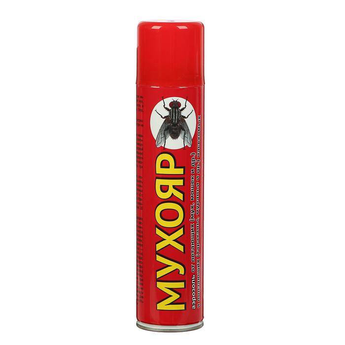 Аэрозоль Мухояр от мух, тараканов, клопов, блох, муравьв 300мл