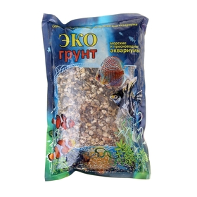 Грунт для аквариума 'Галька реликтовая' №2, 4-8 мм, 1 кг 500012 Ош