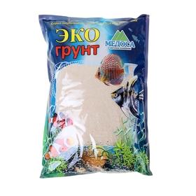 Кварцевый песок для аквариумов «Эко грунт», 3,5 кг, фракция 0,3-0,9 мм, белый Ош