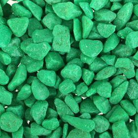 Грунт для аквариума 'Мраморная крошка зеленая блестящая' 5-10 мм, 1 кг 530019 Ош